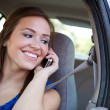 Driving: Teen Female on Phone in Car — Stock Photo #30977627