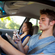 Driving: Driving Dangerously — Stock Photo