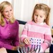 Hanukkah: Family Hanukkah Tradition Of Lighting Candles — Stock Photo