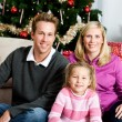Christmas: Family Holiday Portrait — Stock Photo
