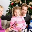 Holidays: Little Girl Lighting Candles for Hanukkah — Stockfoto
