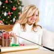 Christmas: Not Sure How To Wrap Golf Club — Stock Photo #33802545