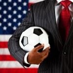 Politician: Ready to Play Soccer — Stock Photo