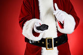 Santa: Naughty People Get Coal For Christmas — Stock Photo