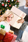 Christmas: Ready To Ship Packages — Stock Photo