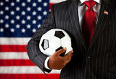 Politician: Ready to Play Soccer — Stock Photo
