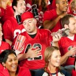 Fans: Group of Friends Watching the Game — Stock Photo