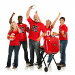 Fans: Fans Have Tailgate Party Before Game — Stock Photo #34171731