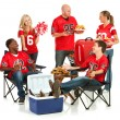 Fans: Fans Have Tailgate Party — Stock Photo