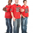 Fans: Casual Fans Ready for Game — Stock Photo