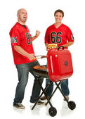 Fans: Fans Excited for Grilling — Stock Photo