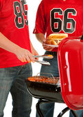 Fans: Sausages on the Grill — Stock Photo