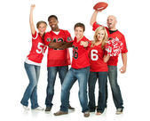 Fans: Fans Cheer for Favorite Team — Stock Photo