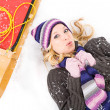 Stock Photo: Winter: Winter WomCold In Snow