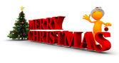 Orange Guy: Merry Christmas To You — Stock Photo