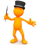 3d Guy: Ready to Put on a Magic Show — Stock Photo