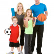 Stock Photo: Family: Healthy Family Ready to Participate in Fitness Activitie