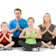Family: Family Meditating Together — Lizenzfreies Foto