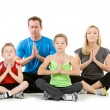 Family: Family Meditating Together — Stok fotoğraf