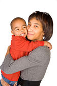 Family: Mother And Child Embracing — Stock Photo