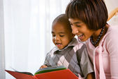 Family: Mother and Child Read A Book Together — Stock Photo