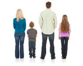 Family: Rear View of Traditional Family — Stock Photo