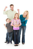 Family: Family Cheers for Girl with Trophy — Stock Photo
