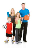 Family: Healthy Family Ready to Participate in Fitness Activitie — 图库照片