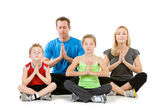 Family: Family Meditating Together — Stock Photo