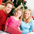 Christmas: Family Christmas Morning Portrait — Foto de Stock