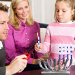Hanukkah:  Lighting Hanukkah Candles — Foto de Stock