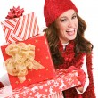 Stock Photo: Christmas: Excited For Christmas Gifts