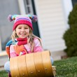 Winter: Little Girl Ready For Snow — Stok fotoğraf