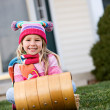 Winter: Little Girl Ready For Snow — Stock Photo