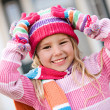 Winter: Excited Girl Ready For Snow — Stok fotoğraf