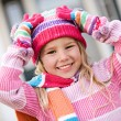 Stock Photo: Winter: Excited Girl Ready For Snow
