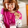 Kitchen Girl: Hungry For Cookies — ストック写真