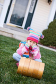Winter: Little Girl Frustrated By No Snow — Stock Photo