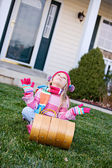Winter: Wishing For Snow For Sledding — Stock Photo