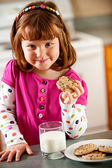 Kitchen Girl: Hungry For Cookies — Stock Photo