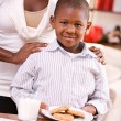 Christmas: Boy Getting Cookies For Santa Claus — Stock Photo #36772469