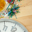 New Year's: Midnight Party Celebration Background — Stock Photo