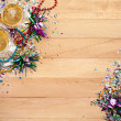 New Year's: Confetti with Champagne To Celebrate — ストック写真