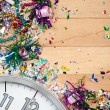 New Year's: Midnight Celebration Party Background — Stock Photo