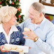 Christmas: Husband Taking A Holiday Cookie — ストック写真