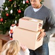 Stock Photo: Christmas: Ready To Ship Packages