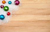 Christmas: Holiday Decoration Background — Stock Photo