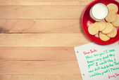 Christmas: Cookies and Letter to Santa — Stock Photo