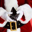 Santa: Showing Empty Wallet — Stock Photo