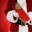 Santa: Hands Full Of Christmas Presents — Stockfoto